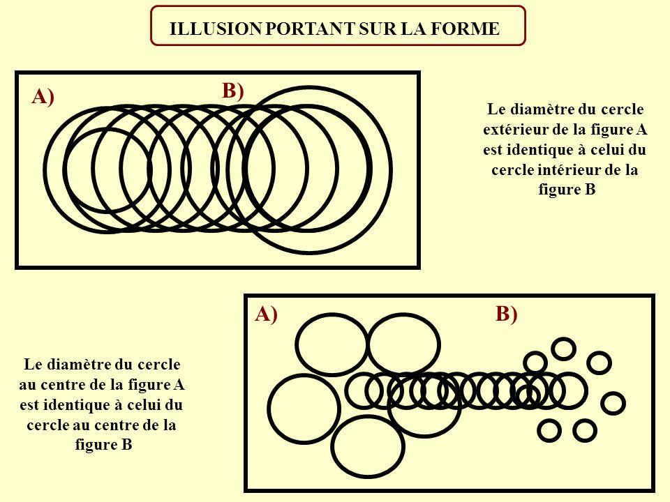 CONTEXTE ET ILLUSION Les deux lignes horizontales vous paraissent-elles parallèles ?