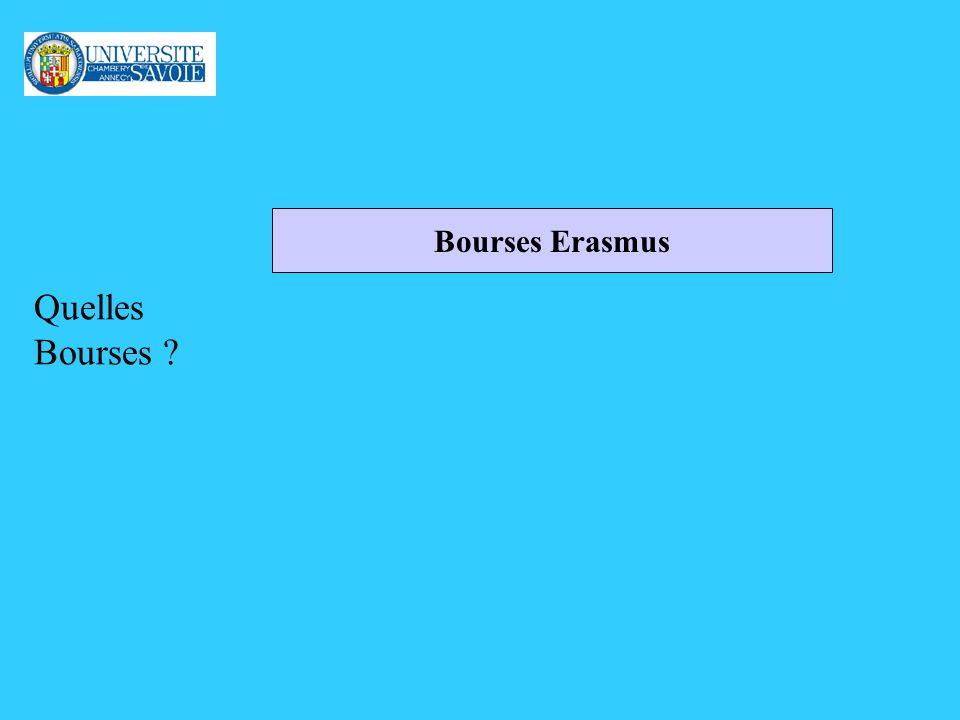 Quelles Bourses Bourses Erasmus