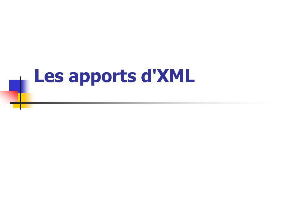 Les apports d'XML