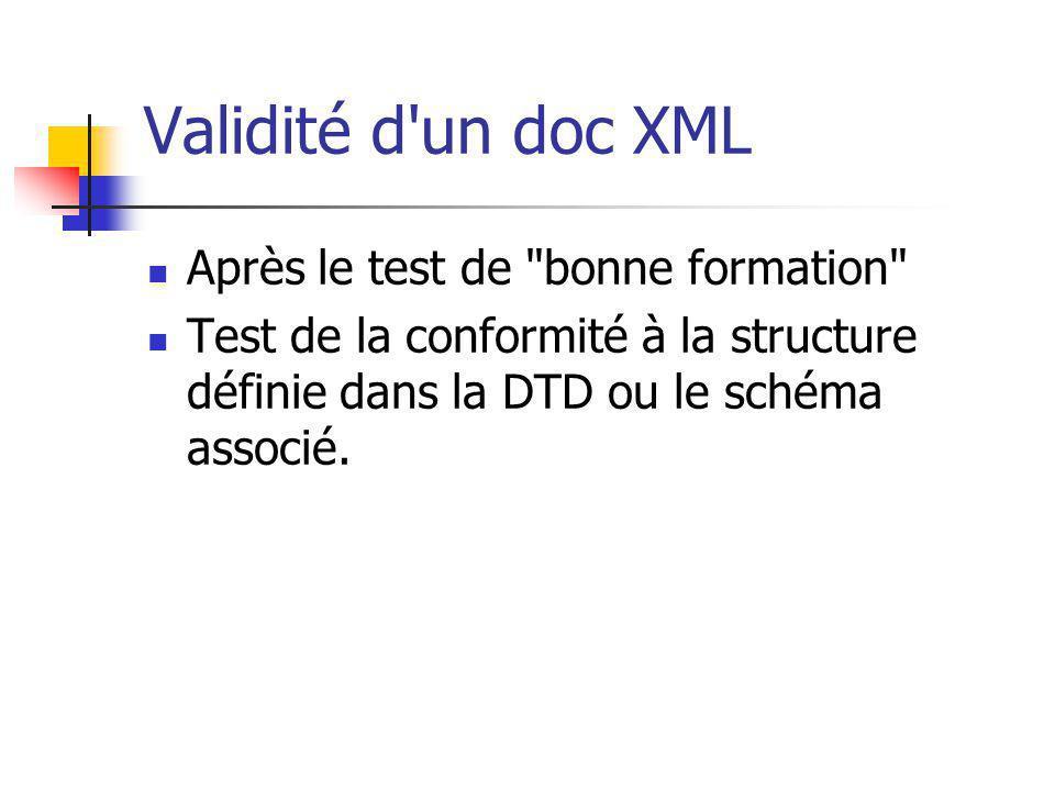 Validité d'un doc XML Après le test de