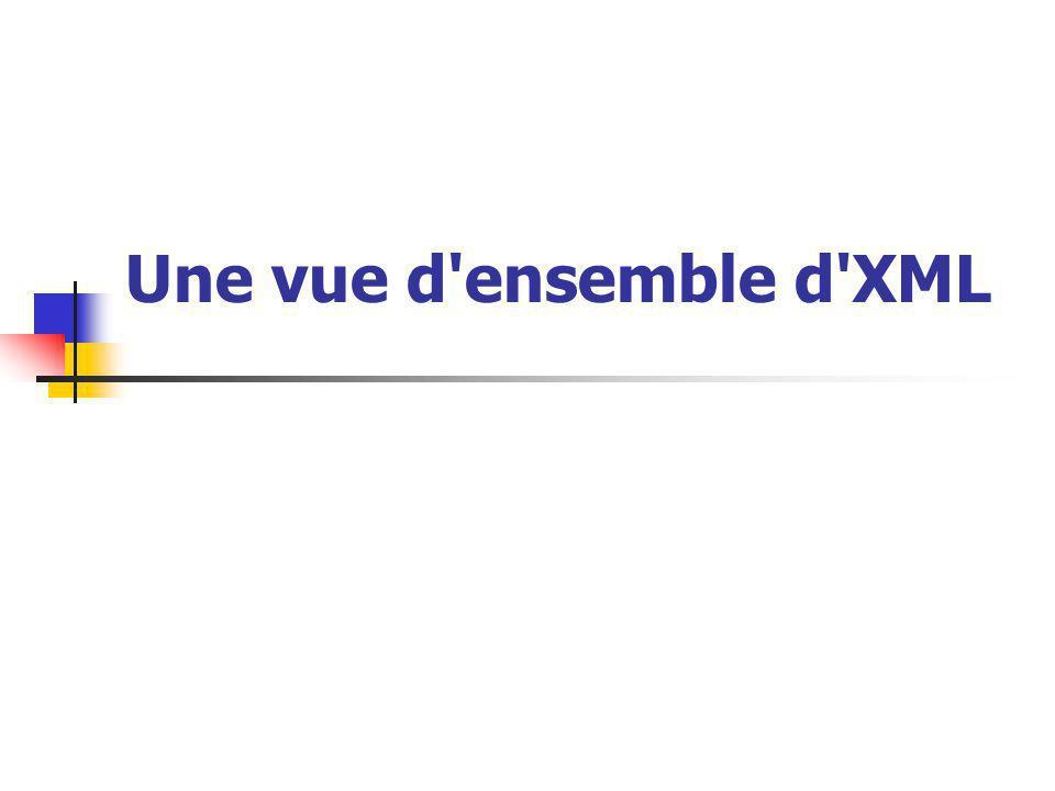 Une vue d'ensemble d'XML