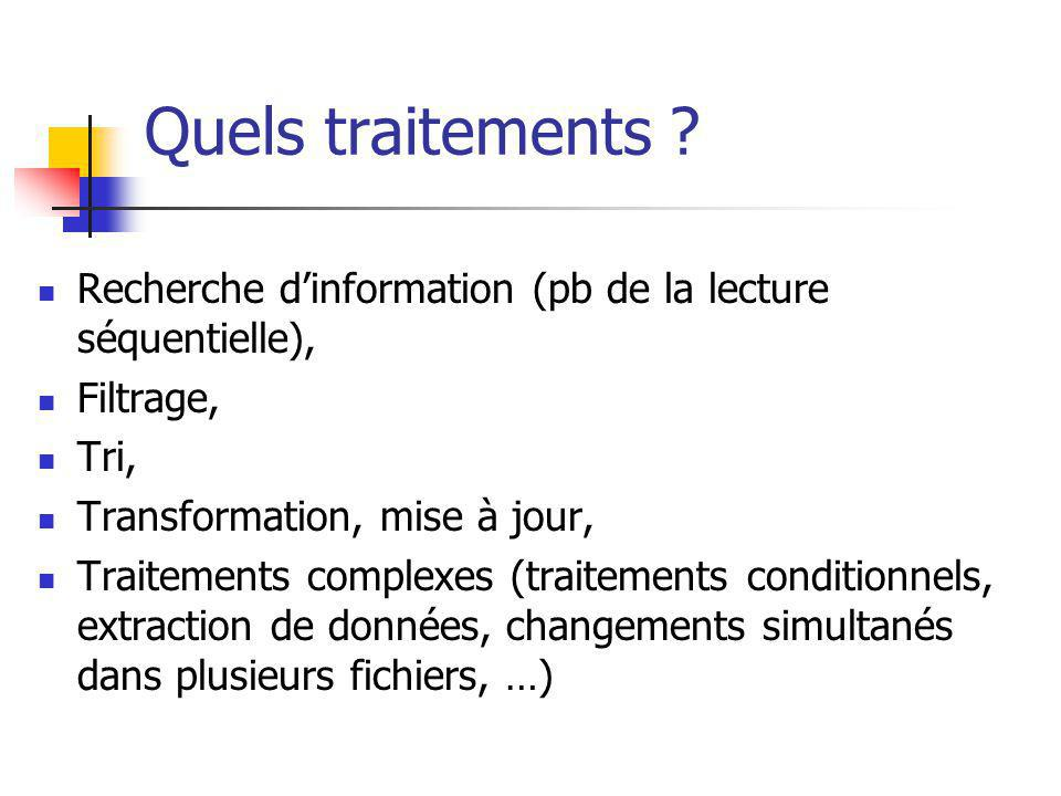 Quels traitements .