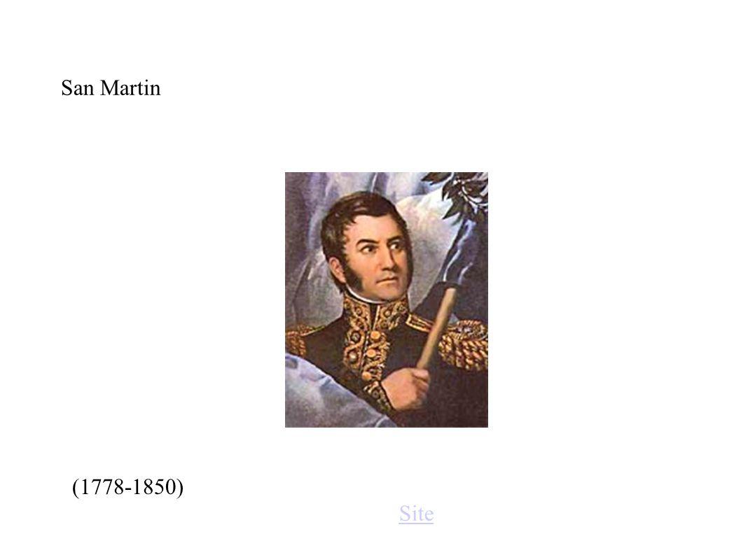 San Martin (1778-1850) Site
