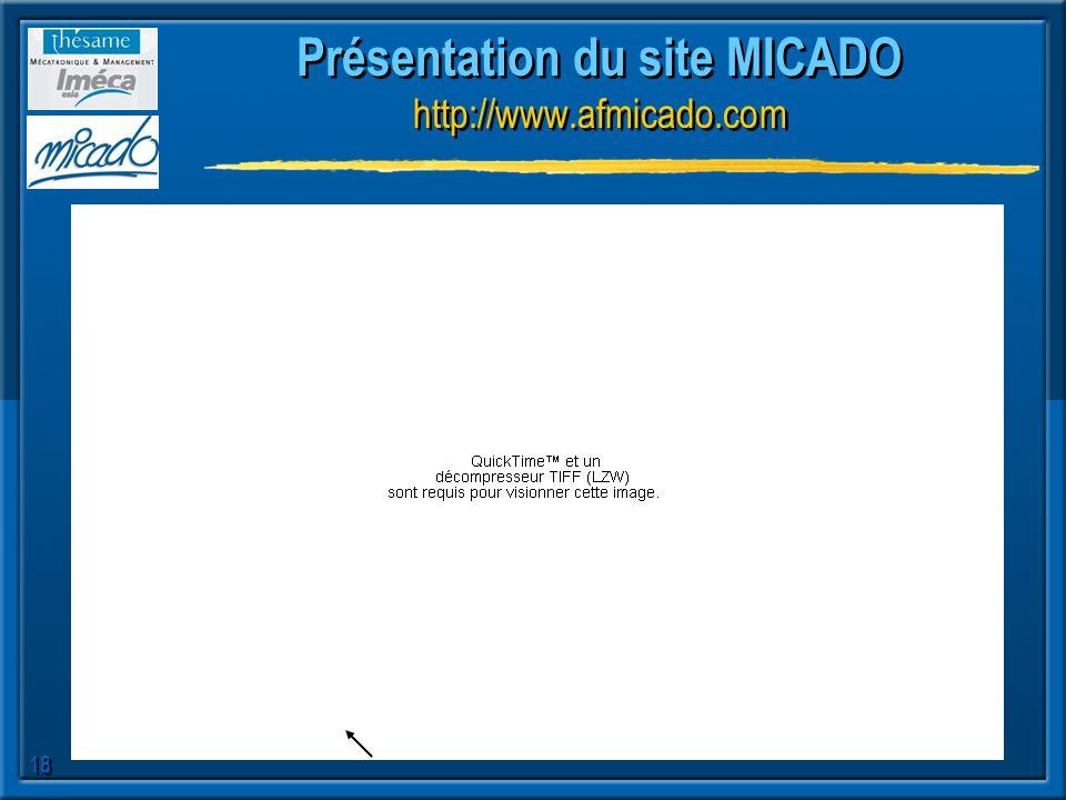 18 Présentation du site MICADO http://www.afmicado.com