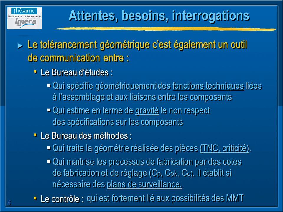 7 Tolérancement dimensionnel et géométrique Le tolérancement na pas pour but de coter un dessin, Document Renault S.A.