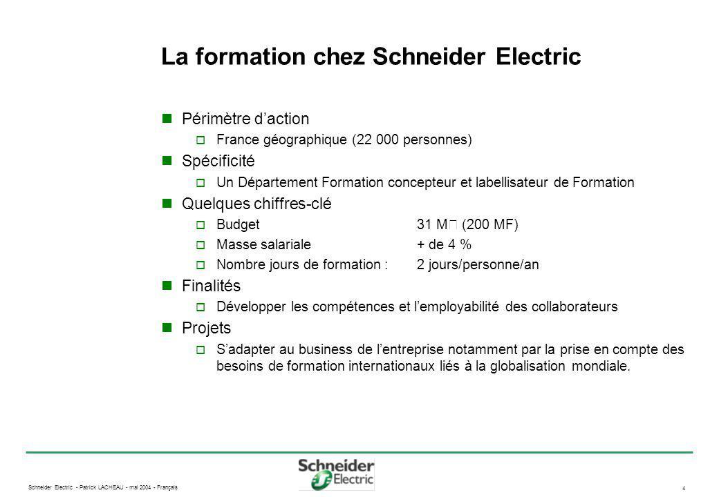 Schneider Electric - Patrick LACHEAU - mai 2004 - Français 5 Démarche de conception robuste Concept Définition .