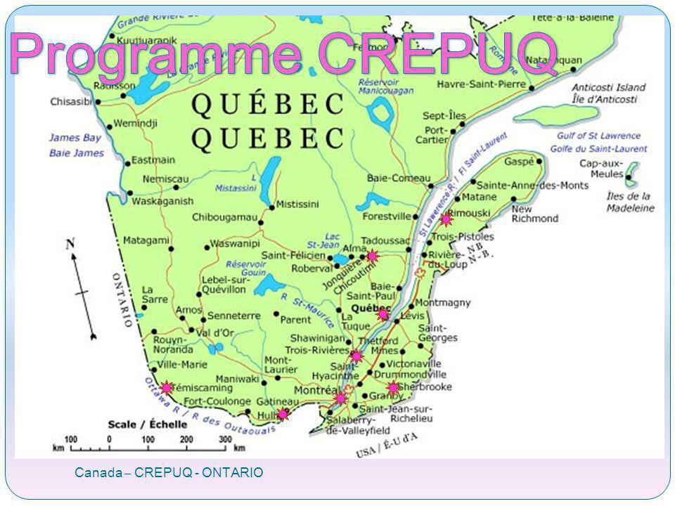 Portail: Programme ORAProgramme ORA Canada – CREPUQ - ONTARIO
