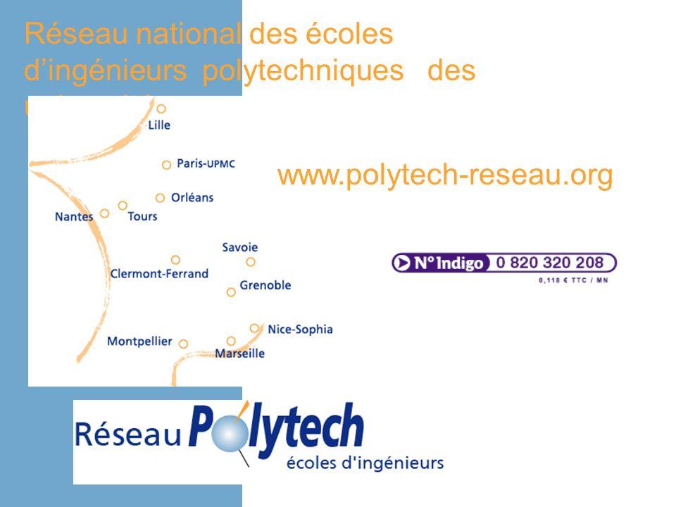 Réseau national des écoles dingénieurs polytechniques des universités www.polytech-reseau.org