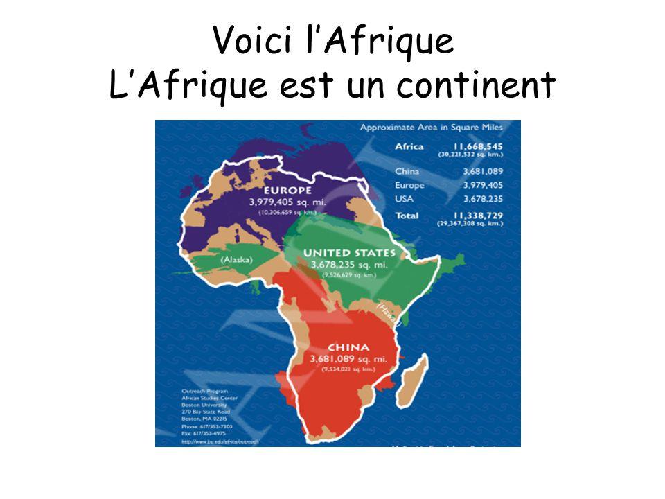 Voici lAfrique LAfrique est un continent