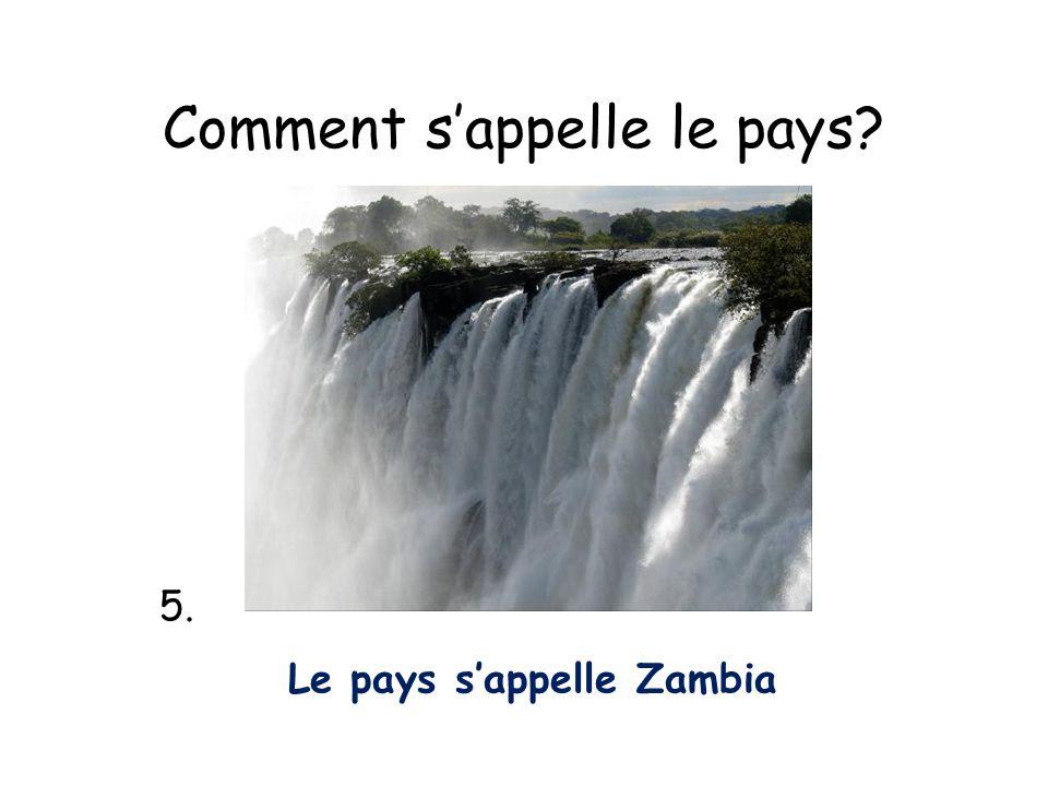 Comment sappelle le pays? 5. Le pays sappelle Zambia
