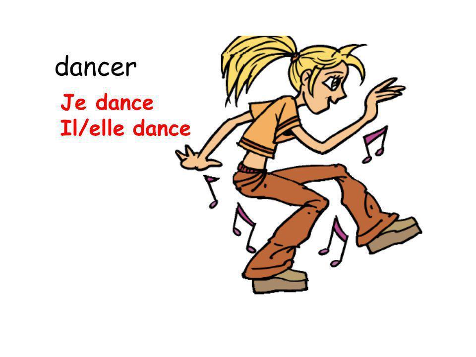 dancer Je dance Il/elle dance