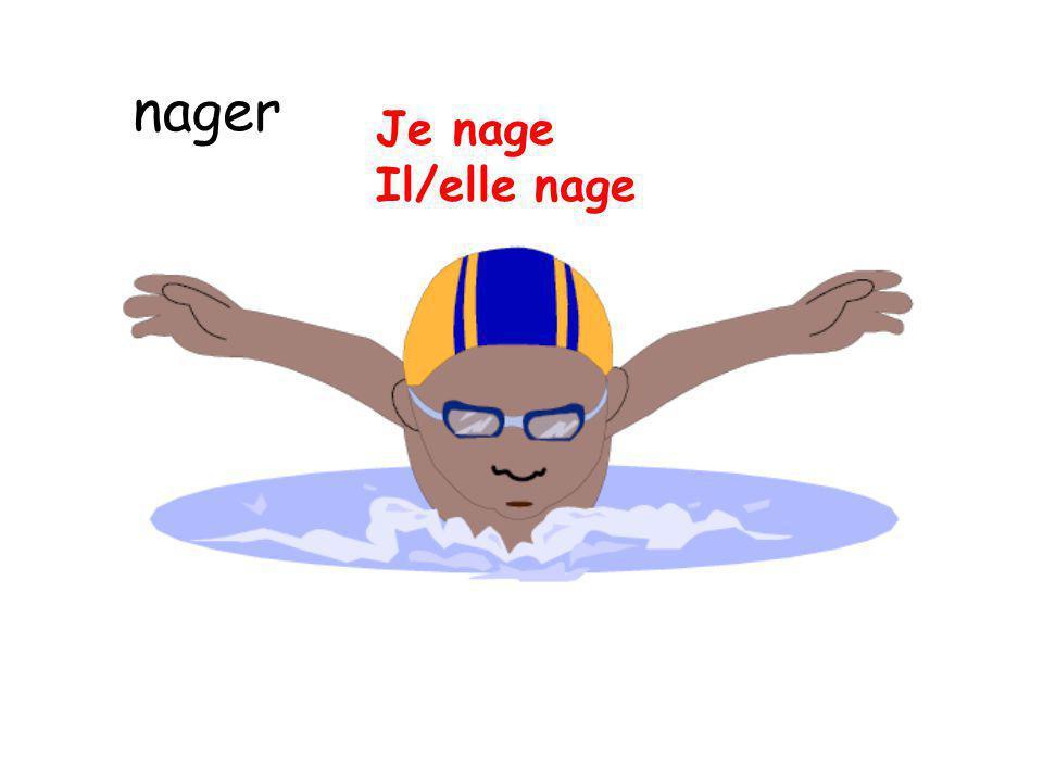 nager Je nage Il/elle nage