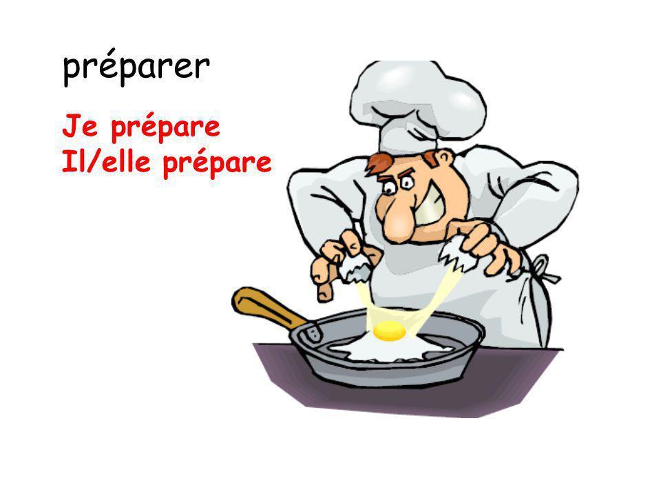 préparer Je prépare Il/elle prépare
