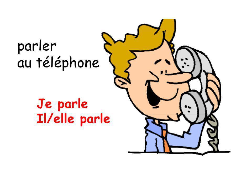 parler au téléphone Je parle Il/elle parle