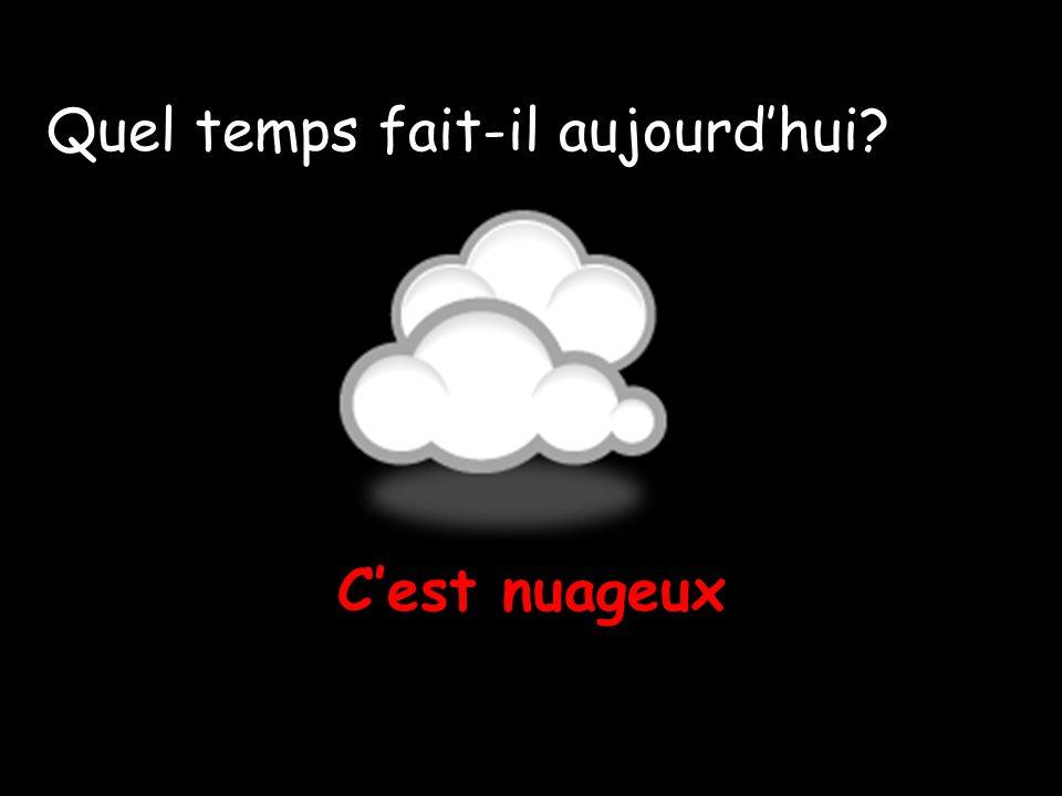Cest nuageux Quel temps fait-il aujourdhui?