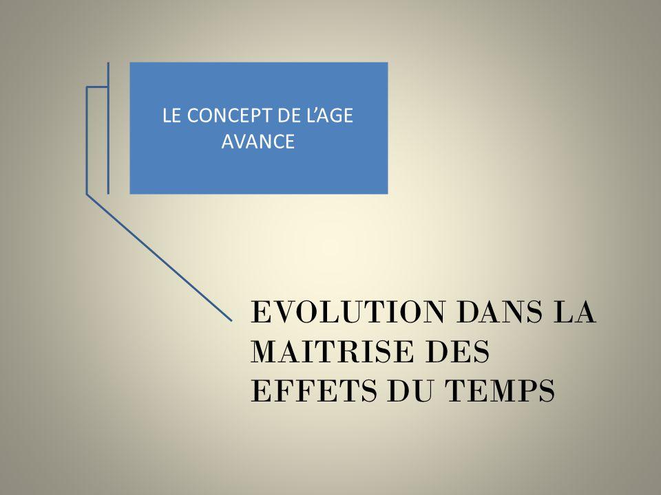 LE CONCEPT DE LAGE AVANCE EVOLUTION DANS LA MAITRISE DES EFFETS DU TEMPS