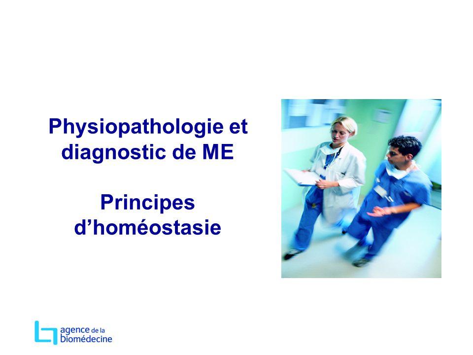 Physiopathologie et diagnostic de ME Principes dhoméostasie