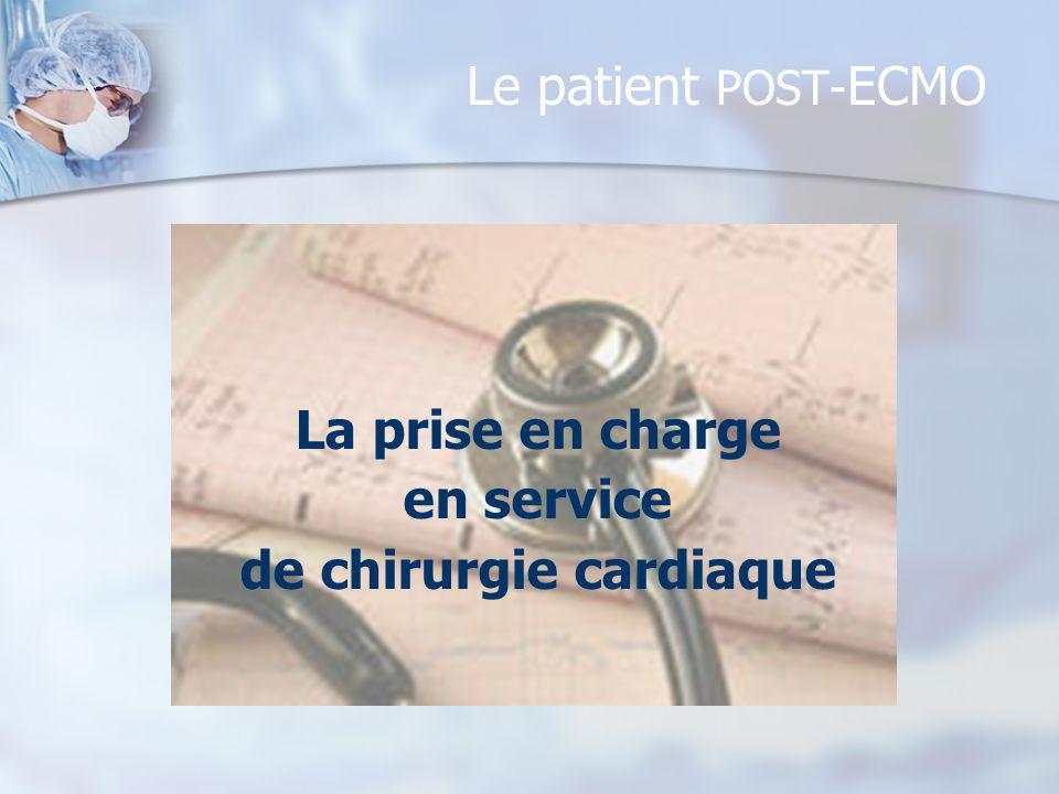 Le patient POST- ECMO La prise en charge en service de chirurgie cardiaque