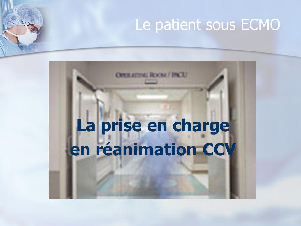 Le patient sous ECMO La prise en charge en réanimation CCV