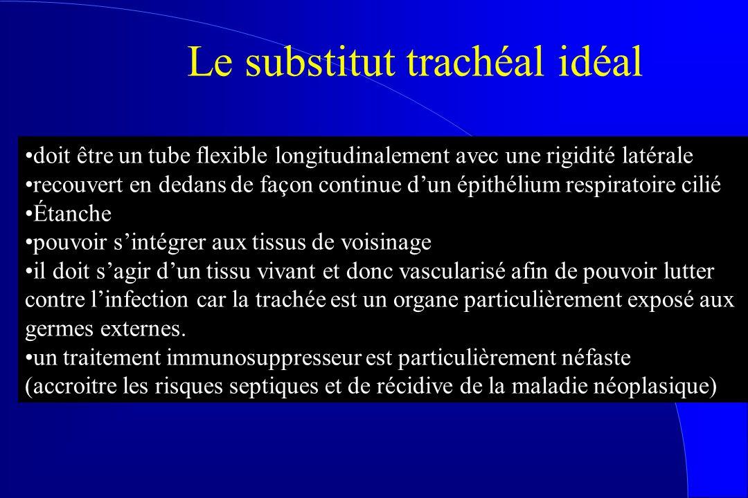 doit être un tube flexible longitudinalement avec une rigidité latérale recouvert en dedans de façon continue dun épithélium respiratoire cilié Étanch