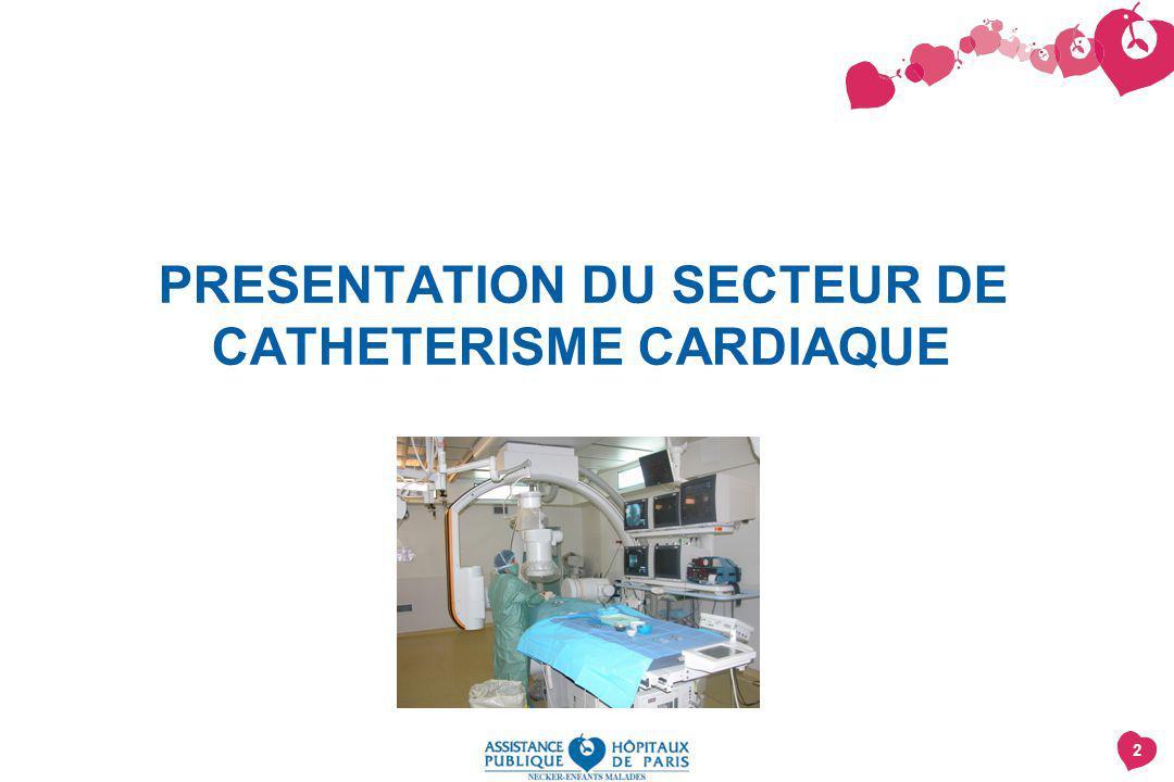 2 PRESENTATION DU SECTEUR DE CATHETERISME CARDIAQUE
