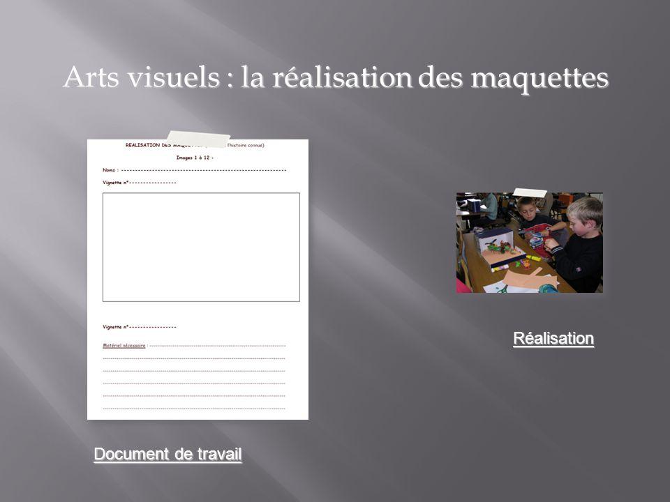 Arts visuels : la réalisation des maquettes Document de travail Réalisation