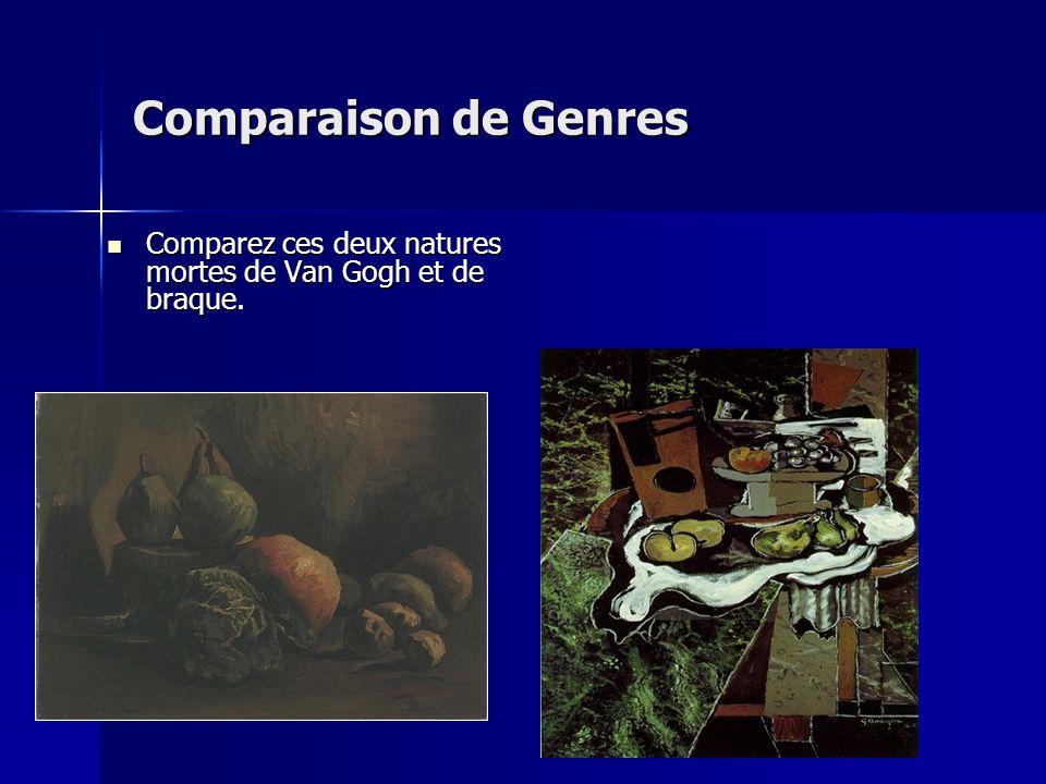 Comparaison de Genres Comparez ces deux natures mortes de Van Gogh et de braque.