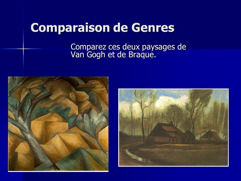 Comparaison de Genres Comparez ces deux paysages de Van Gogh et de Braque.