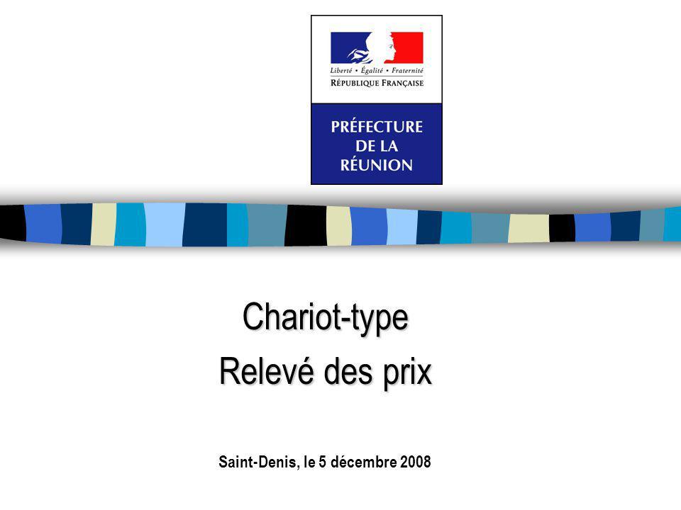 Chariot-type Relevé des prix Saint-Denis, le 5 décembre 2008