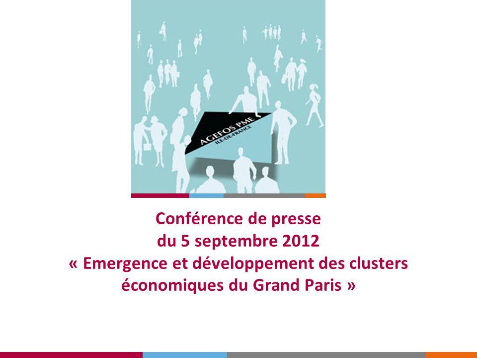 Conférence de presse du 5 septembre 2012 « Emergence et développement des clusters économiques du Grand Paris »
