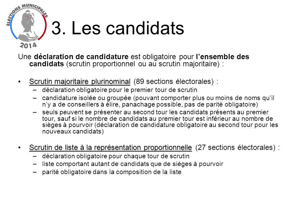Une déclaration de candidature est obligatoire pour lensemble des candidats (scrutin proportionnel ou au scrutin majoritaire) : Scrutin majoritaire pl
