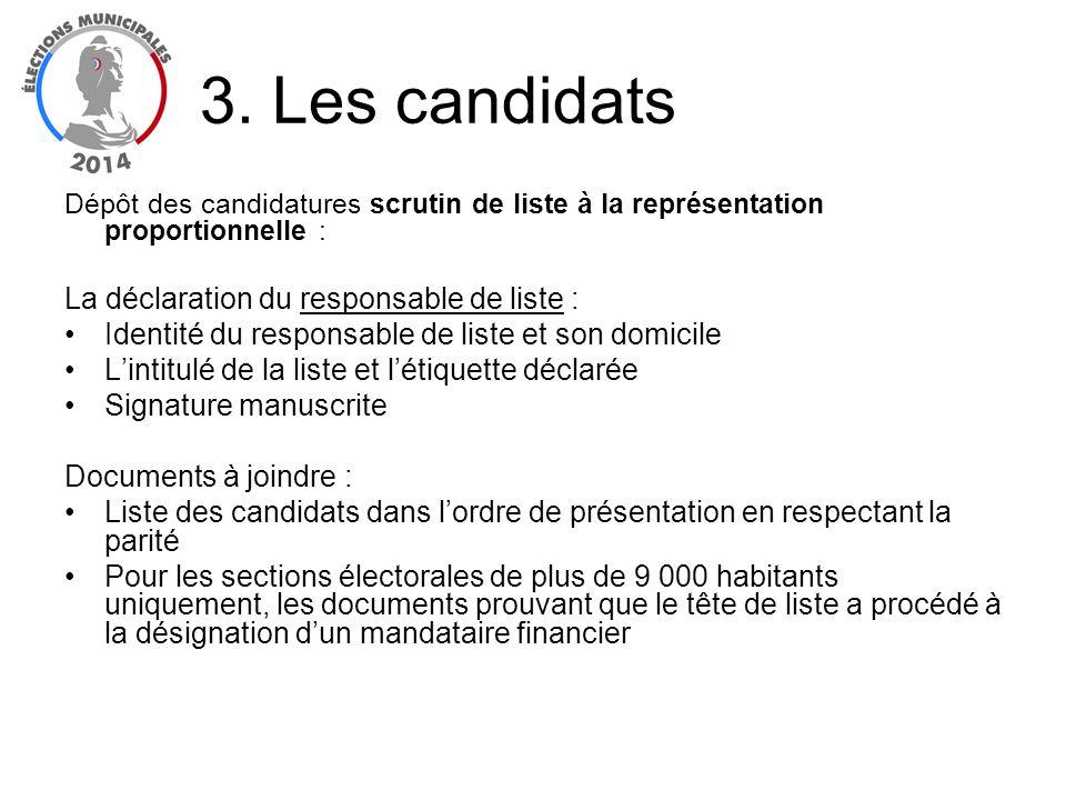 Dépôt des candidatures scrutin de liste à la représentation proportionnelle : La déclaration du responsable de liste : Identité du responsable de list