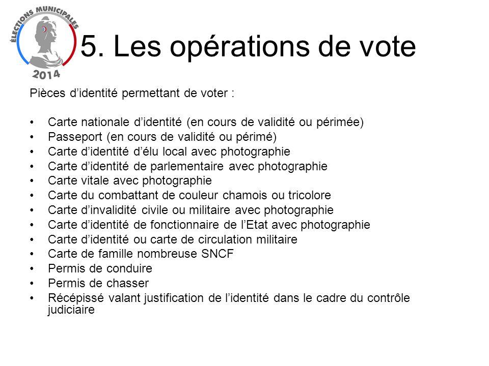 Pièces didentité permettant de voter : Carte nationale didentité (en cours de validité ou périmée) Passeport (en cours de validité ou périmé) Carte di