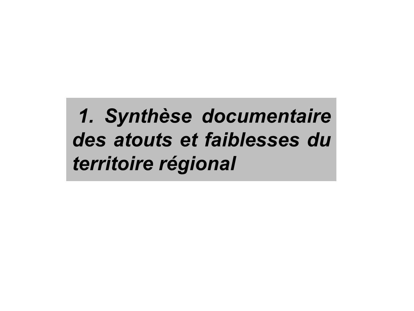 1. Synthèse documentaire des atouts et faiblesses du territoire régional