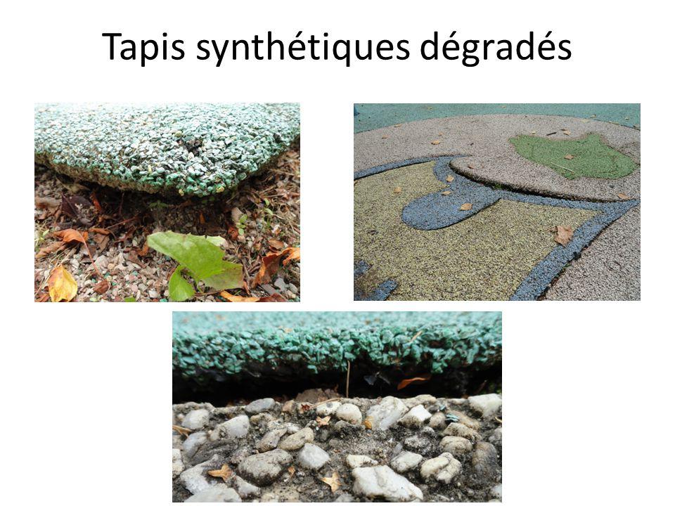 Tapis synthétiques dégradés