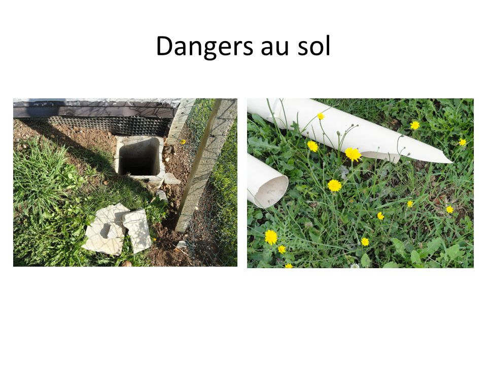 Dangers au sol
