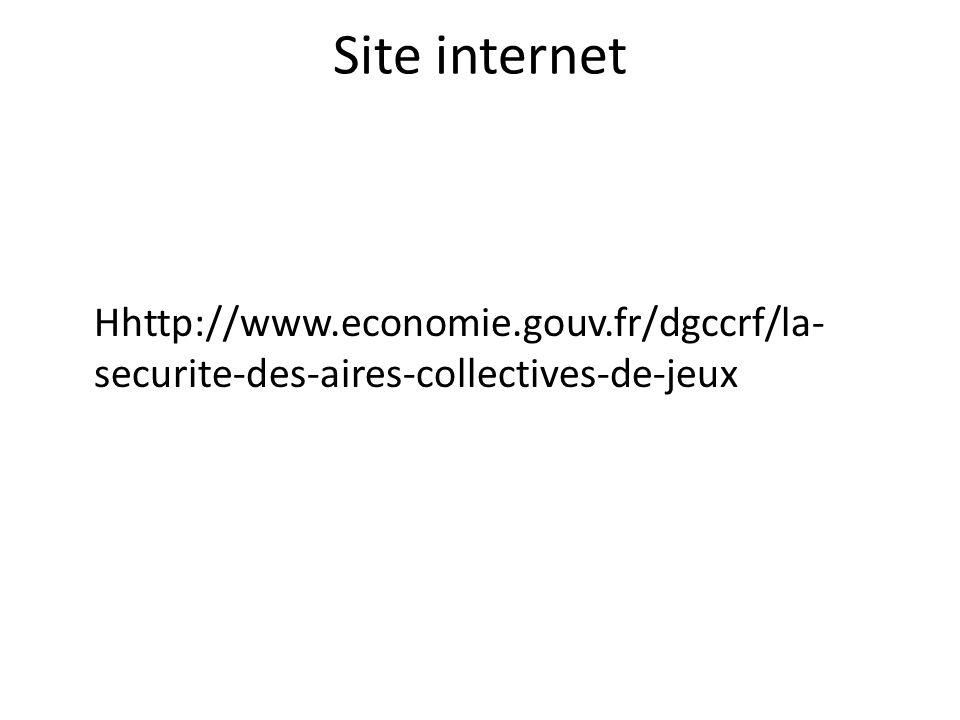 Site internet Hhttp://www.economie.gouv.fr/dgccrf/la- securite-des-aires-collectives-de-jeux