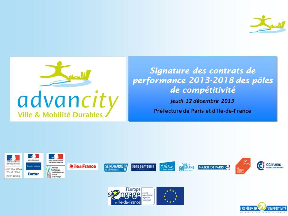 CA 101118 - 22 Signature des contrats de performance 2013-2018 des pôles de compétitivité jeudi 12 décembre 2013 Préfecture de Paris et d'Ile-de-Franc