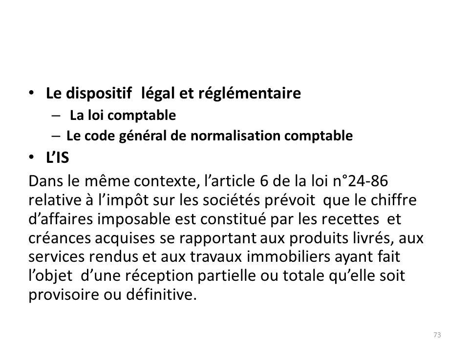 Le dispositif légal et réglémentaire – La loi comptable – Le code général de normalisation comptable LIS Dans le même contexte, larticle 6 de la loi n