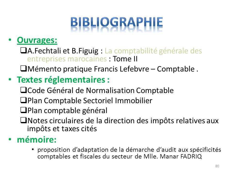 Ouvrages: A.Fechtali et B.Figuig : La comptabilité générale des entreprises marocaines : Tome II Mémento pratique Francis Lefebvre – Comptable. Textes