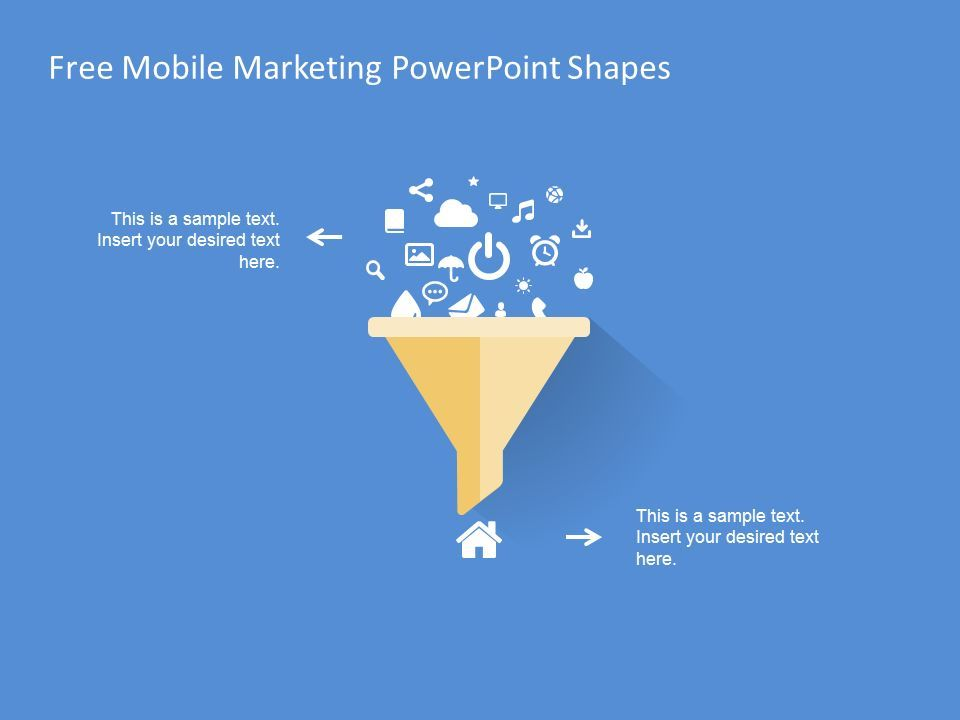 Free Mobile Marketing PowerPoint Shapes This is a sample text.