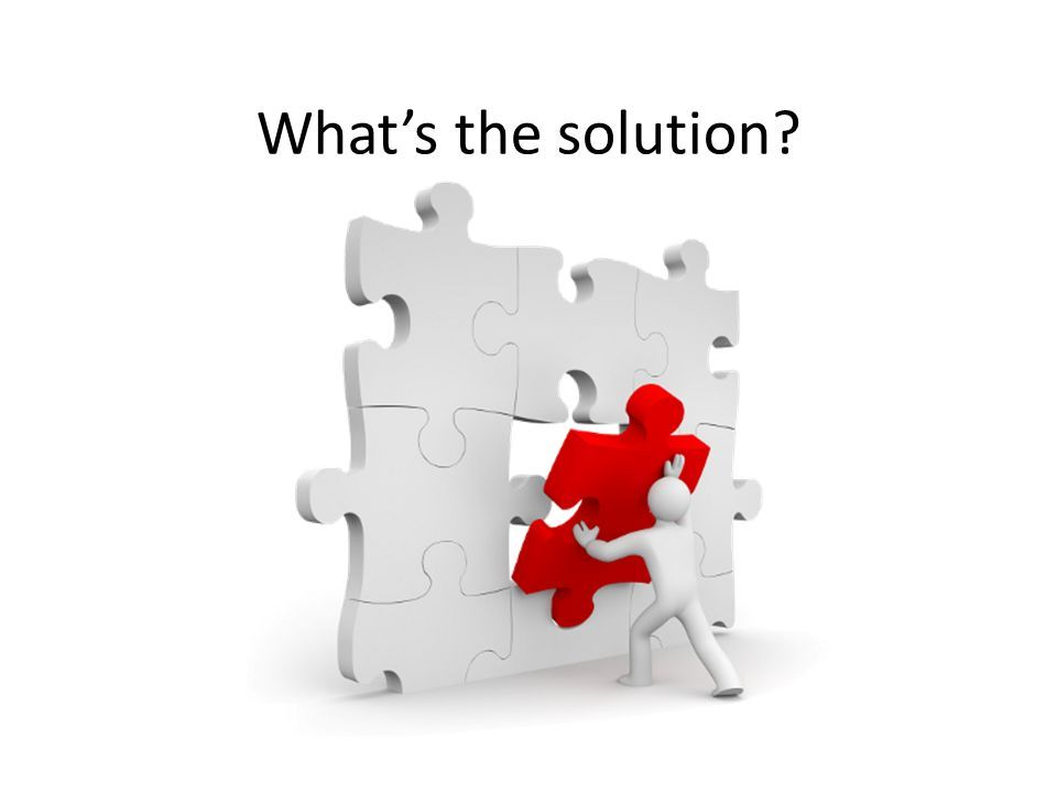 What's the solution