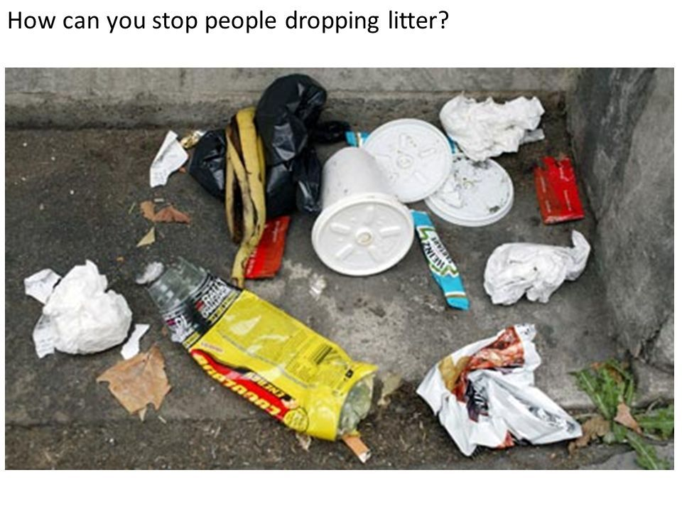 How can you stop people dropping litter