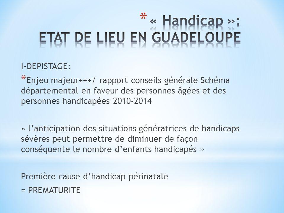 I-DEPISTAGE: * Enjeu majeur+++/ rapport conseils générale Schéma départemental en faveur des personnes âgées et des personnes handicapées 2010-2014 «