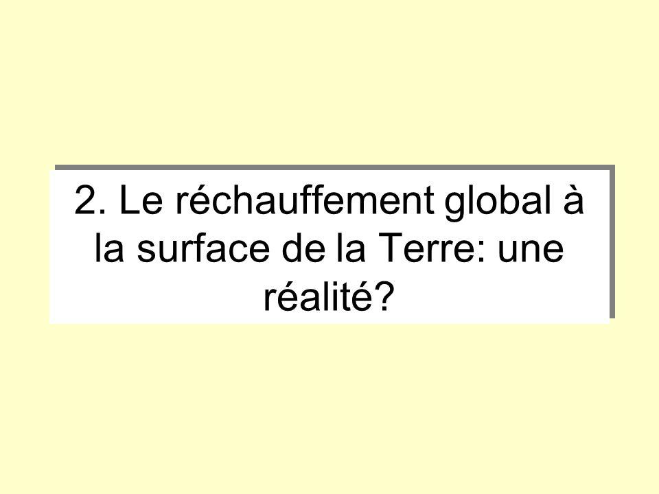 2. Le réchauffement global à la surface de la Terre: une réalité?