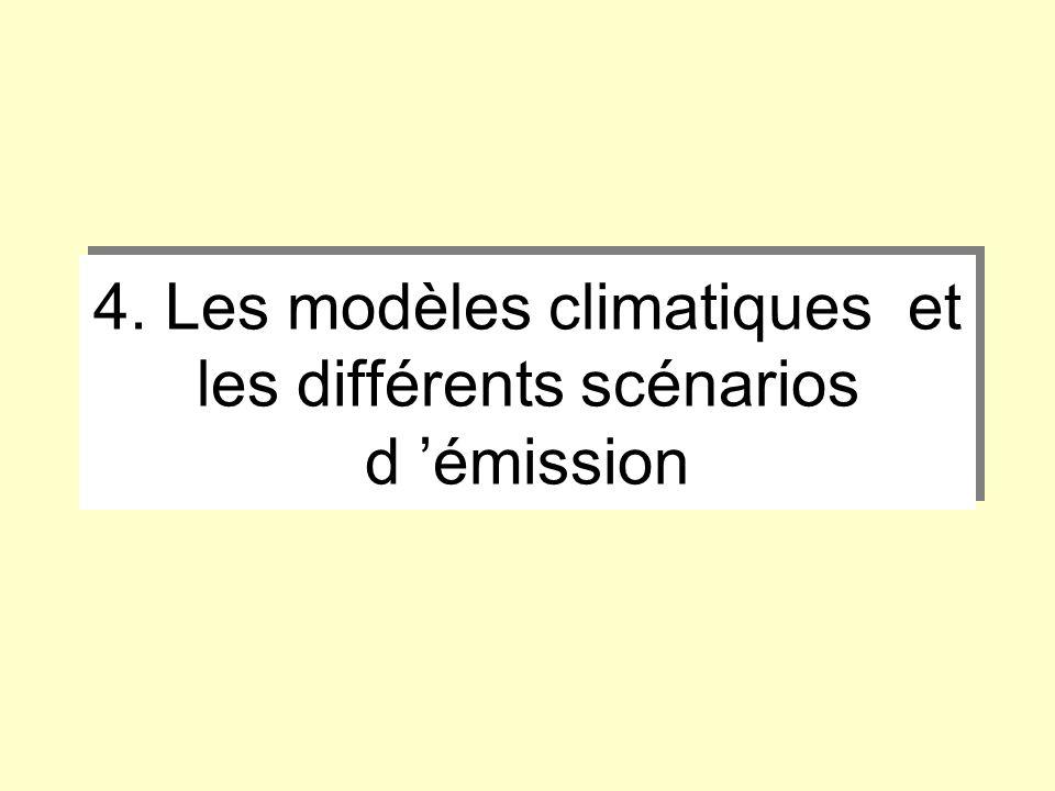 4. Les modèles climatiques et les différents scénarios d émission