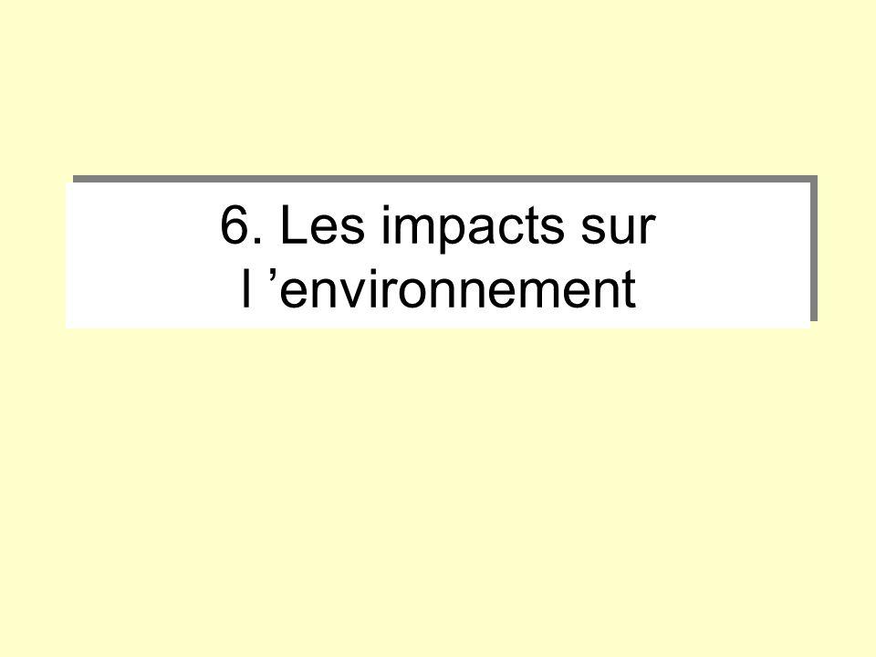 6. Les impacts sur l environnement