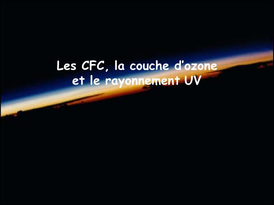 Les CFC, la couche dozone et le rayonnement UV