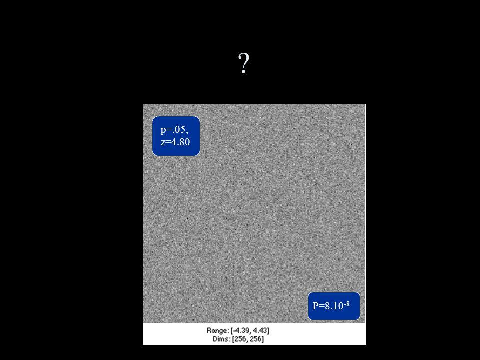 ? p=.05, z=4.80 P=8.10 -8