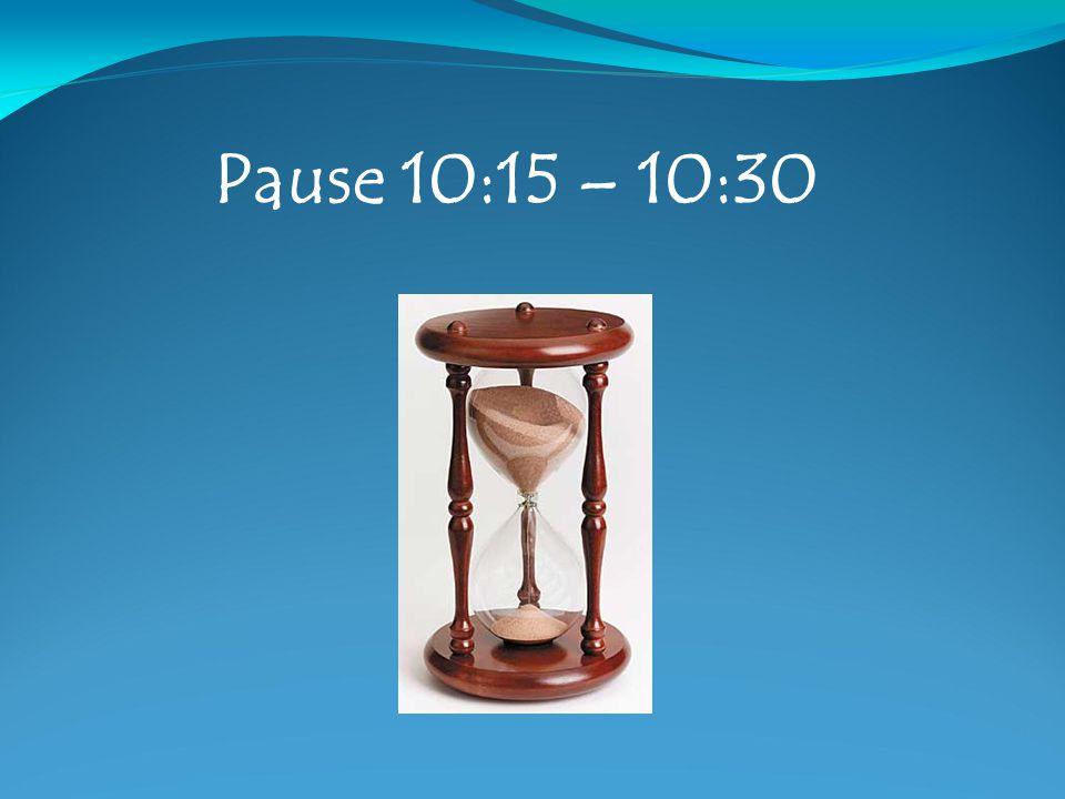 Pause 10:15 – 10:30
